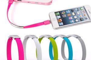 Kabel USB Data Dan Charger Berbentuk Gelang Warna Warni