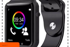 Smartwatch A1 / Smart watch U10 Support Sim Card & Memory Card – Murah – Hitam